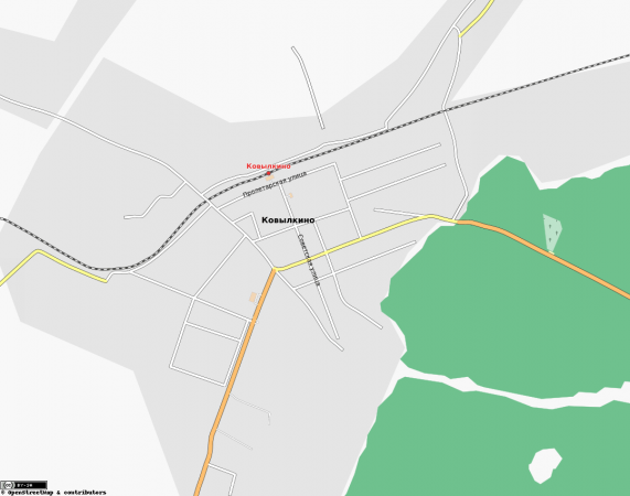 Карта Ковылкино с улицами