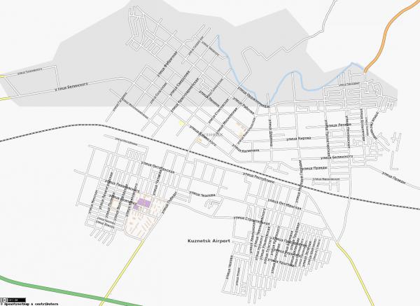 Карта Кузнецка с улицами