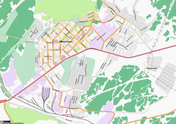 Карта Лениногорска с улицами