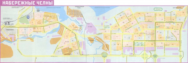 Карта Набережные Челны с улицами