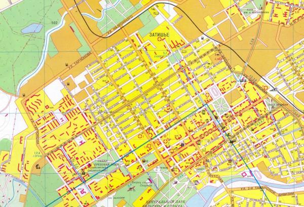 Карта Нальчика с улицами
