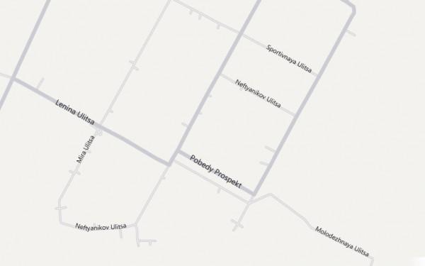 Карта Нефтегорска с улицами