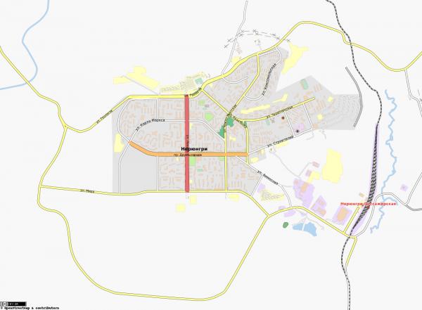 Карта Нерюнгри с улицами
