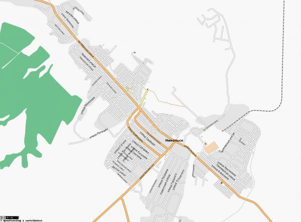 Карта Никольска с улицами