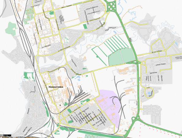 Карта Новоалтайска с улицами