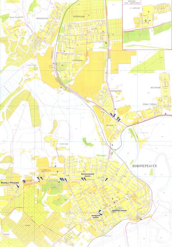 Карта Новочеркасска с улицами