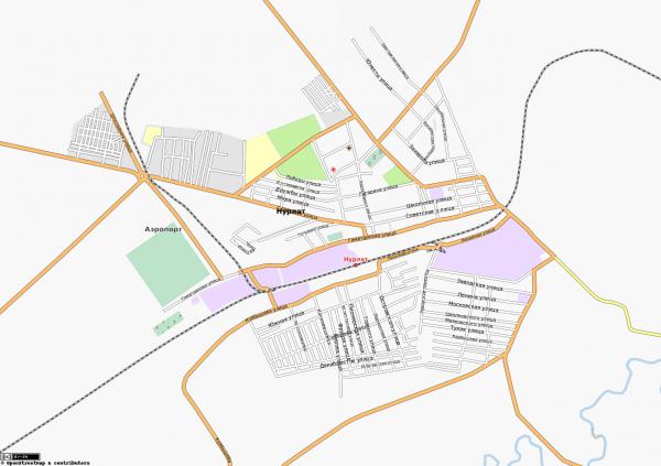 Карта Нурлата с улицами