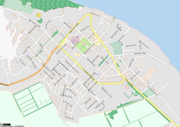 Карта Оханска с улицами