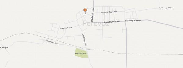 Карта Перевоза с улицами