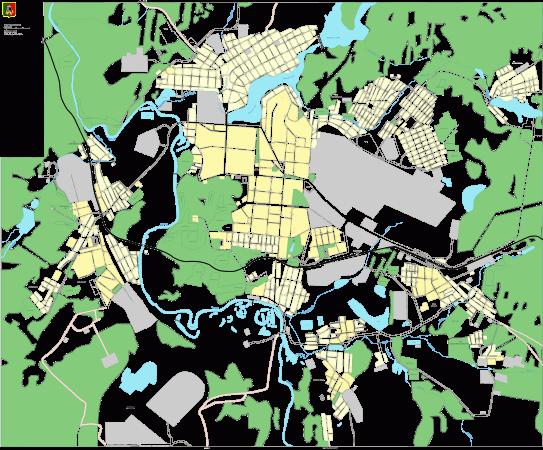 Карта Первоуральска с улицами
