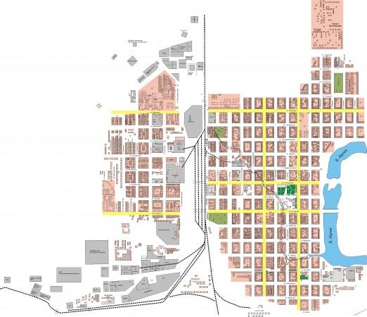 Карта Пугачёва с улицами