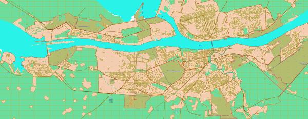 Карта Рыбинска с улицами