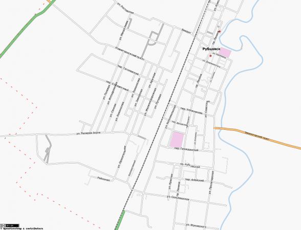 Карта Рубцовска с улицами