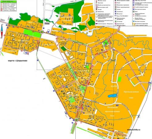 Карта Шарыпово с улицами