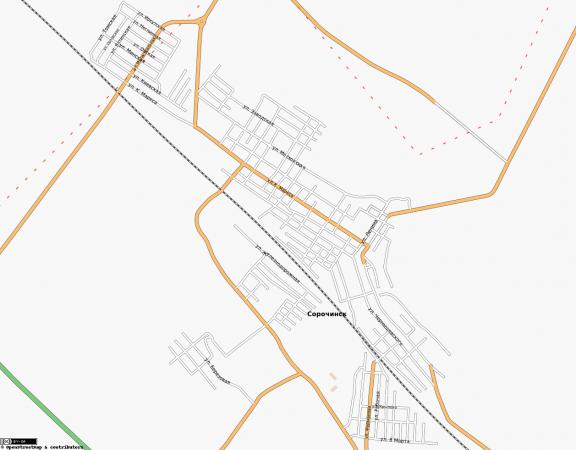 Карта Сорочинска с улицами