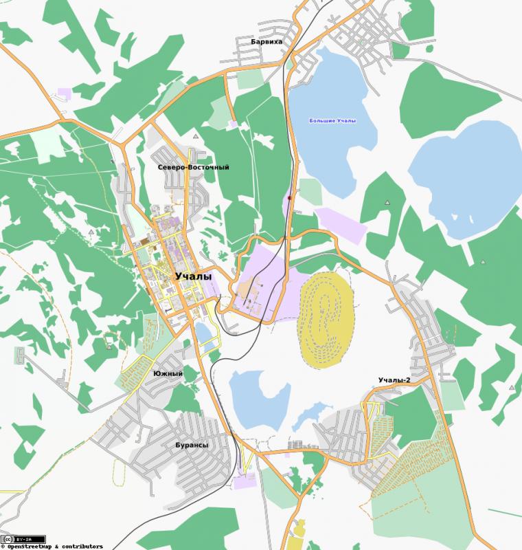 Карта Учалы с улицами