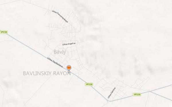 Карта Бавлы с улицами