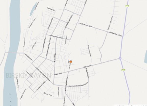 Карта Бирска с улицами