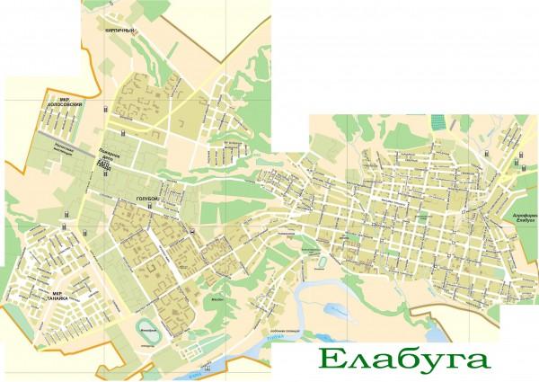 Карта Елабуги с улицами