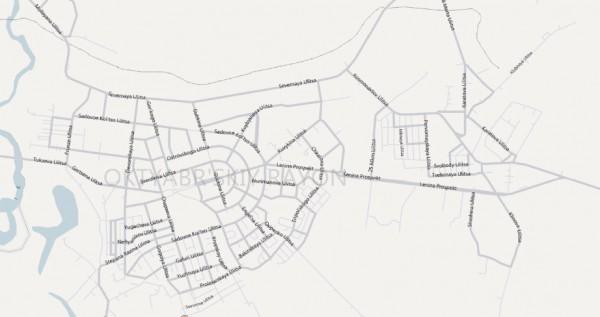 Карта города Октябрьский с улицами