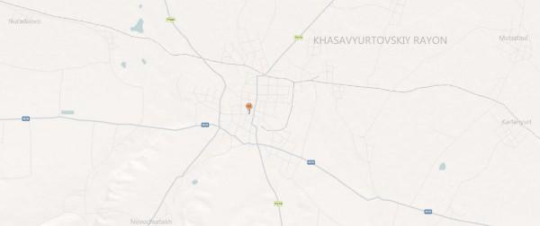Карта Хасавюрта с улицами