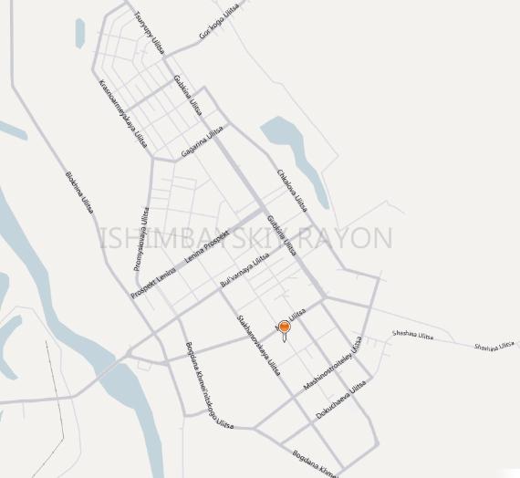 Карта города Ишимбай с улицами