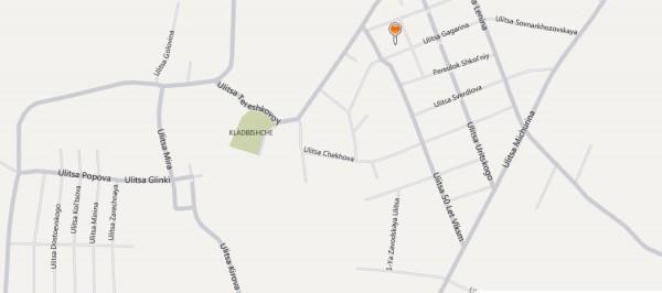 Карта Лысково с улицами