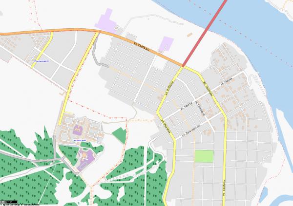 Карта Усолье с улицами