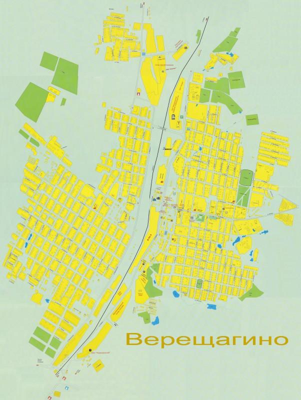 Карта Верещагино с улицами
