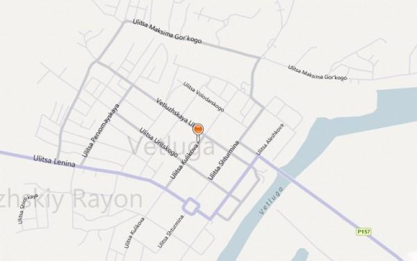 Карта Ветлуги с улицами