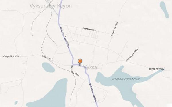 Карта Выксы с улицами