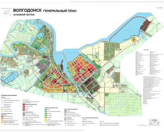 Карта Волгодонска с улицами