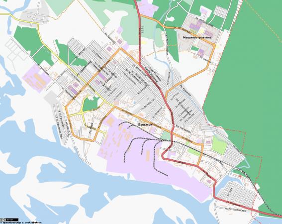 Карта Волжска с улицами