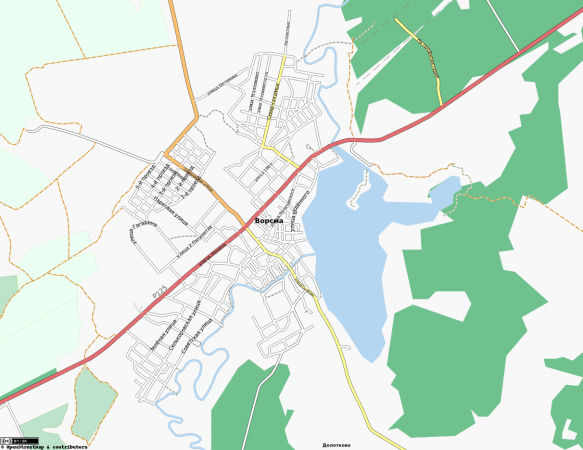 Карта Ворсмы с улицами