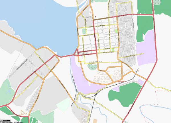 Карта Воткинска с улицами
