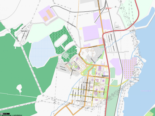 Карта Заинска с улицами