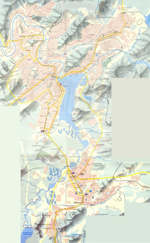Карта Златоуста с улицами