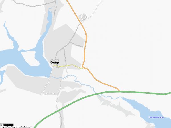 Город Очёр на карте
