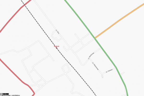 Карта Борзя с улицами схематичная