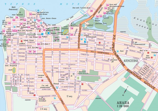 Анапа на карте России