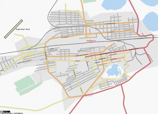 Карта Барабинска с улицами