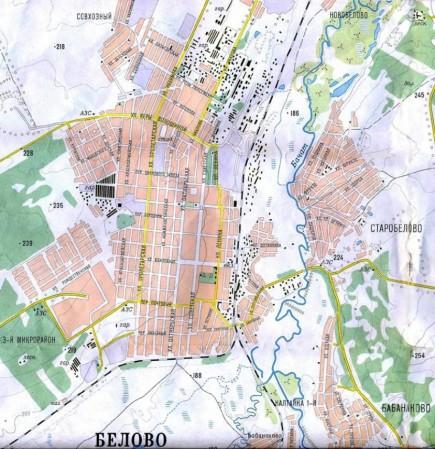 Карта Белово с улицами