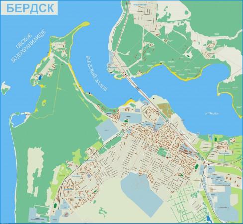 Карта Бердска с улицами