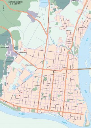 Благовещенск на карте России