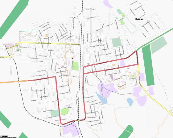Карта Черепаново с улицами