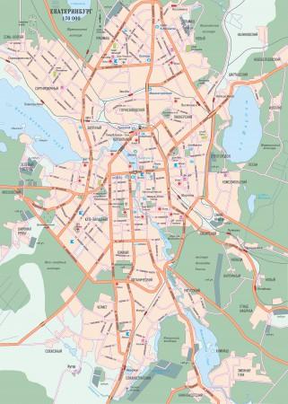 Екатеринбург на карте России