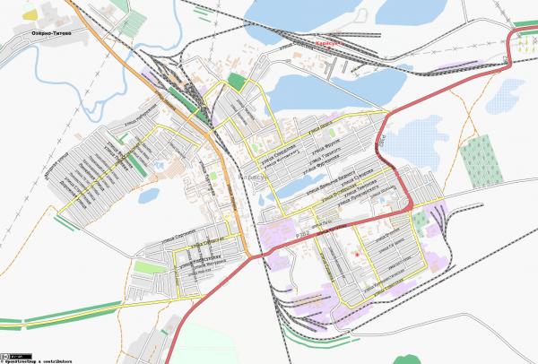 Карта города Карасук с улицами