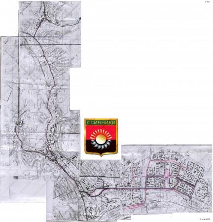 Карта города Осинники с улицами