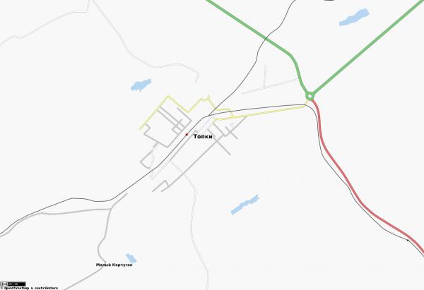 Карта города Топки с улицами