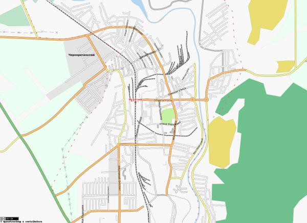Карта Искитима с улицами